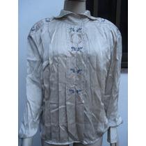 Camisa Em Seda Pura C Bordados Da Paul Alexander Tam G