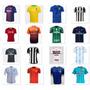 Camiseta De Times Nacional Europeu Futebol Manga Curta Blusa