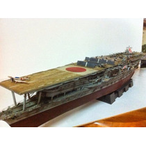 Projeto Papercraft Do Porta-aviões Japonês Akagi 1:200