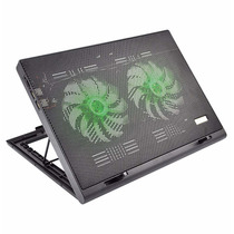 Power Cooler Duplo Gamer P/ Notebook Led Luminoso Multilaser