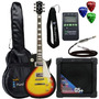 Kit Guitarra Les Paul Clp79 Sunburst Strinberg + Cubo + Aces