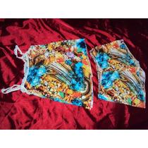 Pijama Adulto Verão Alcinha Renda Estampado Tecido Liganete