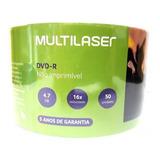 50 Midia Dvd-r Virgem Multilaser 16x 4.7 Gb Dvd Lacrado