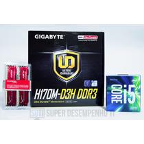Kit Core I5 6400+gigabyte H170m-d3h Ddr3+16gb Fury Kingston