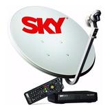 Antena Sky 60cm + Receptor Sky Pré Pago Hd + Ku Duplo
