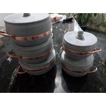 Kit De 5 Panelas 1,5l Ha 5,5l Pedra Sabão Direto Da Fabrica