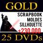 Scrapbook Digital Pascoa Coelhos Ovos + Kit Gold Sillhouette