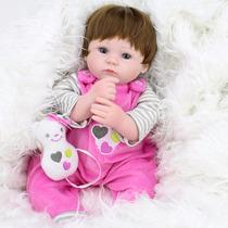 Boneca Bebê Reborn Silicone 45 Cmt Original Frete Gratis