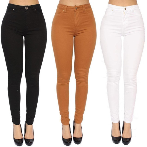 5b554359a Kit 2 Calça Jeans Cintura Alta