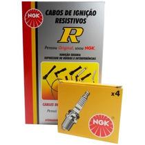 Kit Cabos + Velas Ngk Caravan/comodoro 4 Cil. (gas) Ign Conv