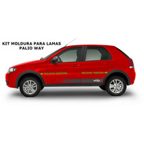 Kit Moldura Para-lamas Fiat Palio Way - Novo Original