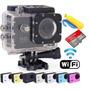 Camera Sport X7000 Com Wifi+cartão 16gb+bateria Reserva+boia