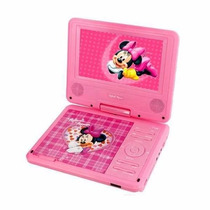 Dvd Player Portátil Disney Minnie Rosa Infantil 7 Mickey
