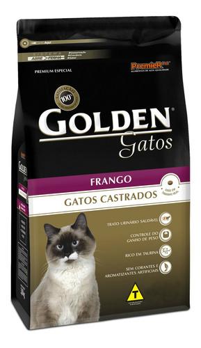 Ração Golden Premium Especial Castrados Para Gato Adulto Sabor Frango Em Saco De 1kg