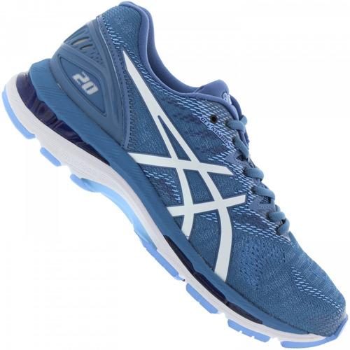 Tênis Running Asics Feminino Gel Nimbus 20 T850n Azul 193a25bf47b09