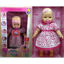Boneca Bebê Carinhoso Bebezão Que Fala Frases - Divertoys