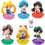 produto Kit 6 Pçs Sailor Moon Petit Chara V3 Gakuen Uniforme Escolar