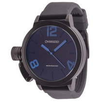 Relógio Masculino Esportivo Oversized Alpha 49mm Dark + Blue