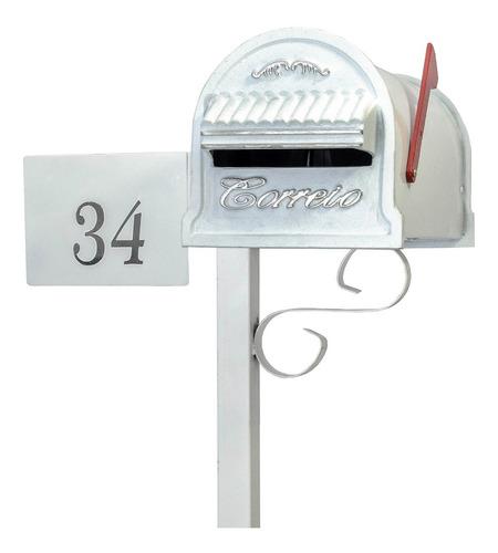 Caixa Correspondência Pedestal Condomínio Numero De Brinde