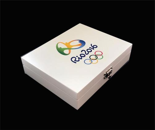 Expositor De Moedas - Olimpiadas 2016 - Com Caixa Branca