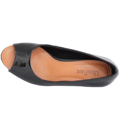 2ef8ef658 Sapato Confortável Usaflex Preto 5601 Melhor Preço!