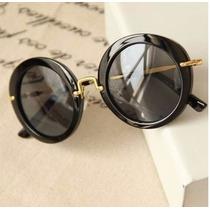 Óculos De Sol Feminino Redondo Luxo Importado