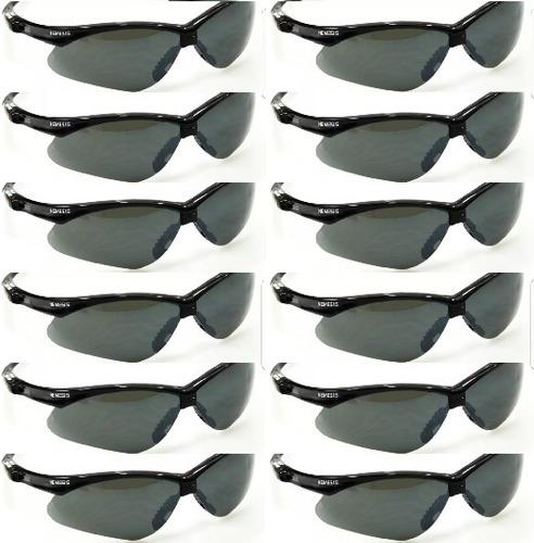 3fdd4ef82882b Kit 12 Óculos Nemesis Jackson Armação Preta Lente Fumê Uv Ca