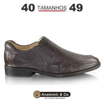 Sapato Anatomic Gel Marrom Escuro - Tamanho Grande