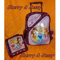 Disney Princesas - Kit Escolar Mochila,rodinha/lancheira