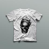 Camisa Social Casual Caveira Marcas Famosas Verão Blusas Rap