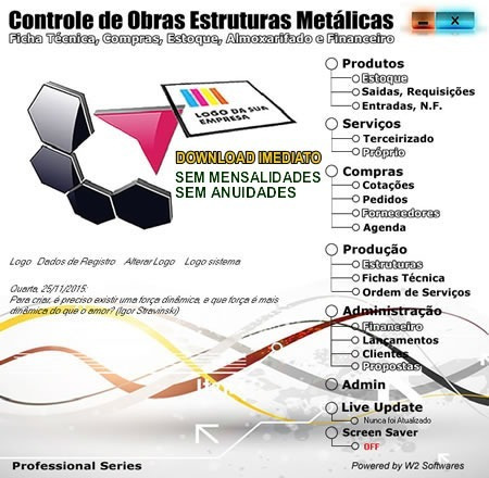 Software Controle De Obras Para Estruturas Metálicas 2871d969df