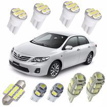 Kit Lâmpadas Led Toyota Corolla 2009 Até 2016 Luz Placa Teto