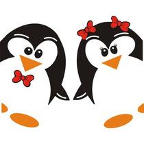 Adesivo Geladeira Casal Pinguim Brinde Casal Pequeno
