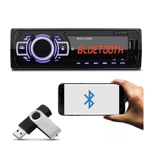 Mp3 Player 1din Usb Radio P3319 New One Fm Bluetooth Carro