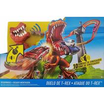 Pista Playset Hot Wheels Ataque Do T-rex C/ Som Mattel X4280