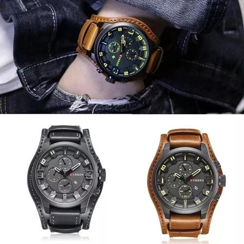 fdf35ba20c9 2 Relógio Bracelete Masculino Curren Social Luxuoso Mod 8225. R  249.9
