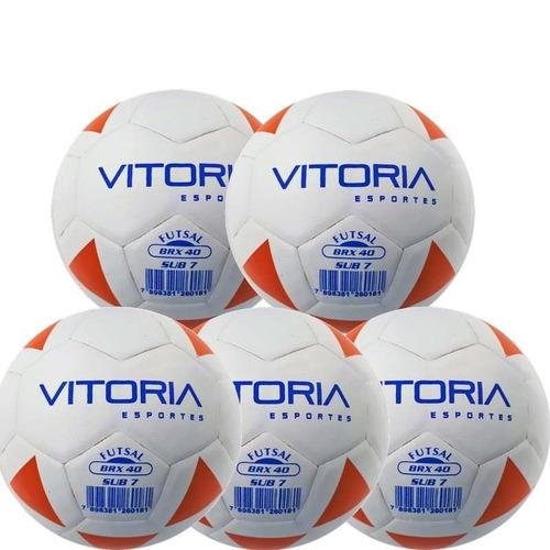 96aa1e196 Kit 5 Bolas Futsal Vitoria Brx Max 40 Sub 7 (3 6 Anos) Baby