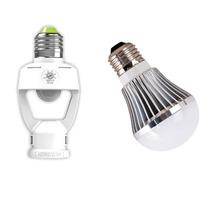 Sensor De Presença P/lâmpada C/foto Celula + Lampada Led 7w