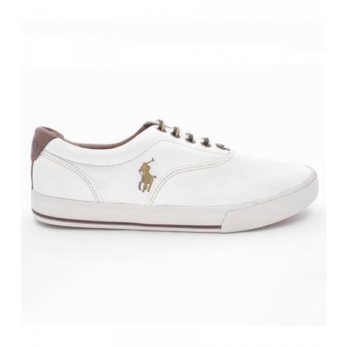 05de057cce Sapatênis Ralph Lauren Branco Cavalo Dourado. R$ 119.9