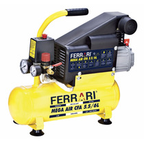 Compressor De Ar Mega Air Ferrari C-6l Bivolt 750 Watts
