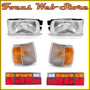 Kit Gol Quadrado Farol+pisca Cristal+lant 91/98 Plast Trico