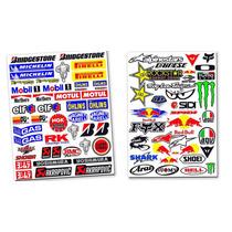 Cartelas 47 E 35 Adesivos Patrocinadores Moto Gp Honda Yamah