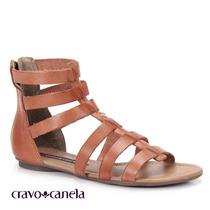 20%off Sandália Gladiadora Rasteira Cravo & Canela 139502-1