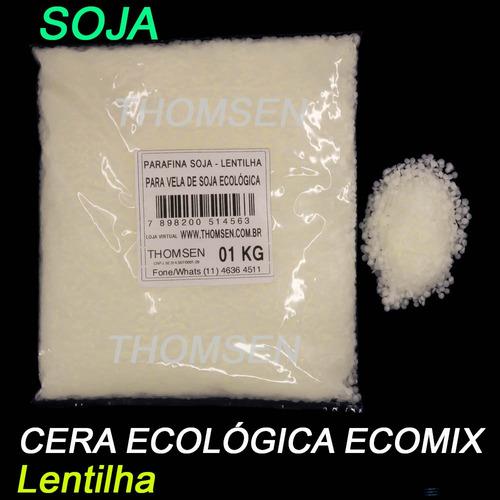 5 Kg - Parafina Soja - Cera Mix Eco Lentilha P Velas