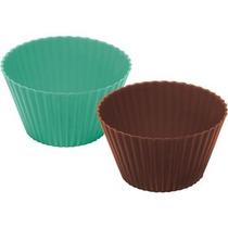 Forma De Silicone Para Cupcake Com 8 Unid Ou Fs 2000