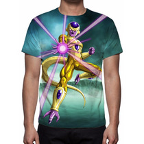 Camisa, Camiseta Dragon Ball Super - Freeza Dourado