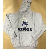 Blusa Frio Moleton Kings Macaco Casaco C/ Capuz Super Oferta
