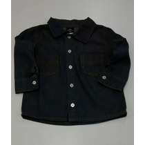 Camisa Jeans Cor Jeans Escuro Tam: 2