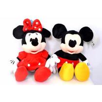 Kit 2 Boneco Pelúcia Disney Minnie E Mickey Original