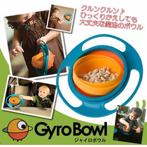Tigela Gira Gyro Bowl Magico Infantil Comida Nao Cai